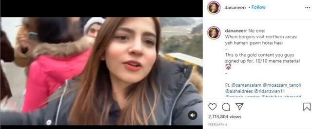 The viral video was posted by Mobeen on her Instagram feed