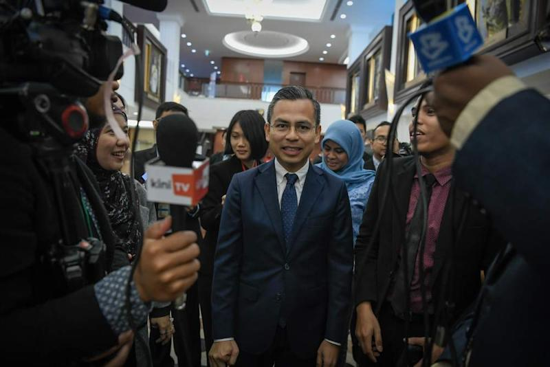 Fahmi told reporters that the party did not have official information about the meeting. ― Picture by Hari Anggara