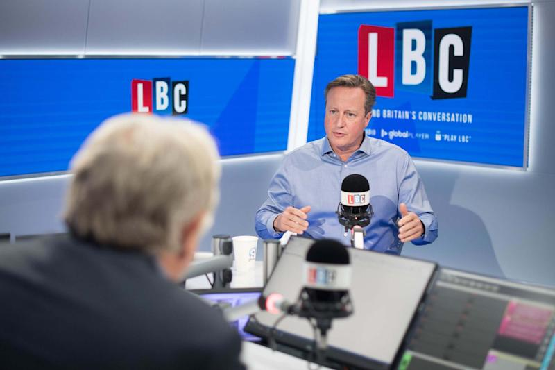 Mr Cameron during an interview with LBC's Nick Ferrari (PA)