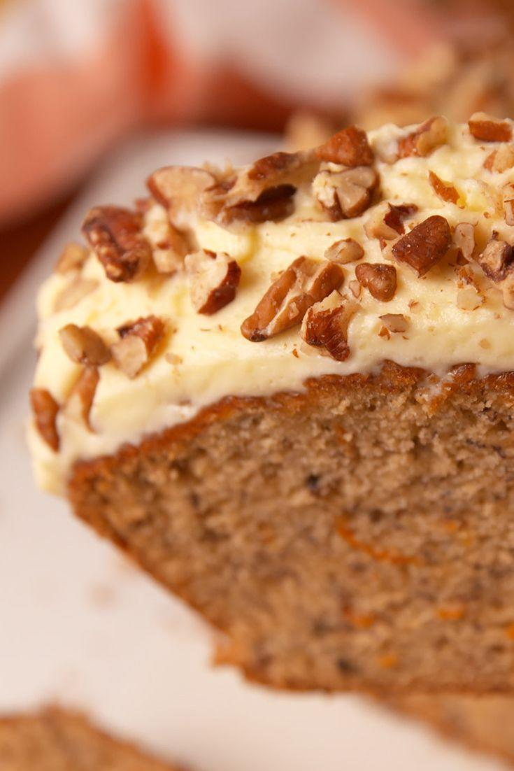 "<p>The best of both baking worlds.</p><p>Get the <a href=""https://www.delish.com/uk/cooking/recipes/a28826709/carrot-cake-banana-bread-recipe/"" rel=""nofollow noopener"" target=""_blank"" data-ylk=""slk:Carrot Cake Banana Bread"" class=""link rapid-noclick-resp"">Carrot Cake Banana Bread</a> recipe.</p>"