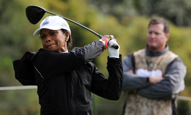 """<span class=""""element-image__caption"""">Condoleezza Rice was one of the first women to become a member of Augusta National.</span> <span class=""""element-image__credit"""">Photograph: Mark Ralston/AFP/Getty Images</span>"""