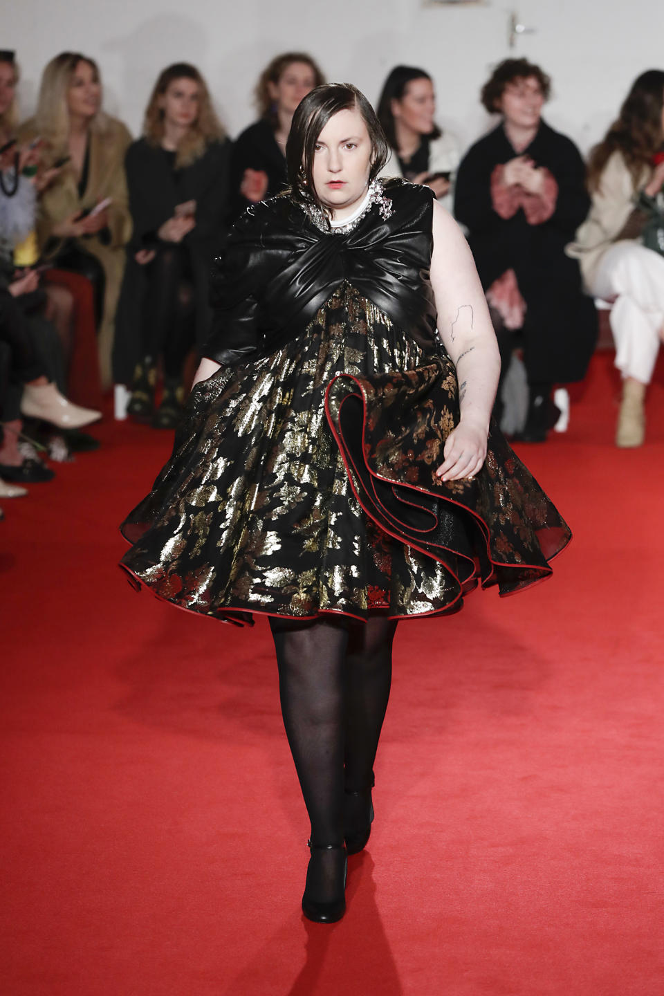 """The actress said she felt """"beautiful"""" walking the catwalk for 16Arlington on Friday [Image: Getty]"""