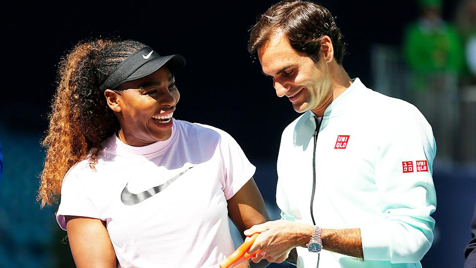 Serena Williams (pictured left) has revealed why she thinks Roger Federer (pictured right) and herself have been able to sustain their success into their late 30s. (Getty Images)