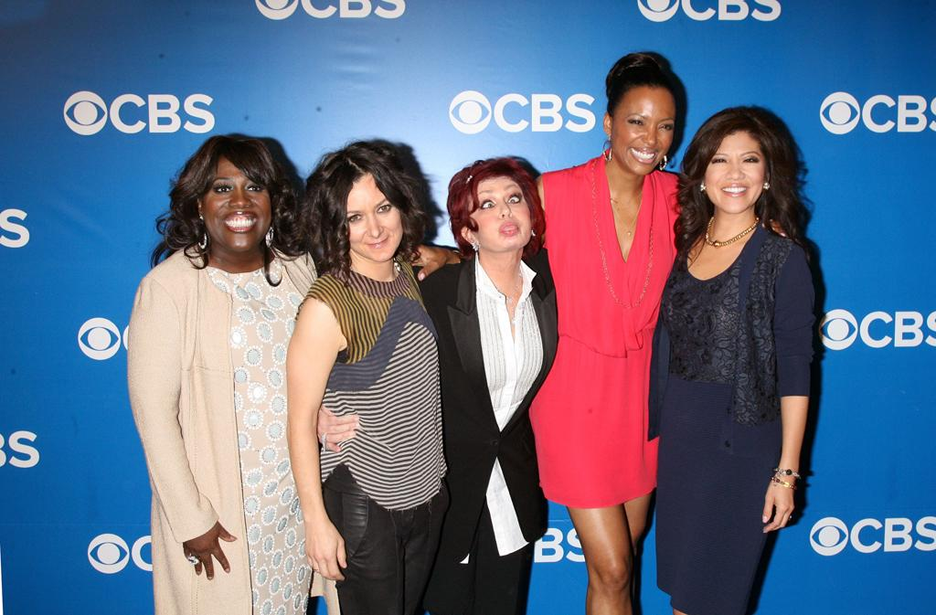 "Sheryl Underwood, Sara Gilbert, Sharon Osbourne, Aisha Tyler, and Julie Chen (""The Talk"") attend CBS's 2012 Upfront Presentation on May 16, 2012 in New York City."
