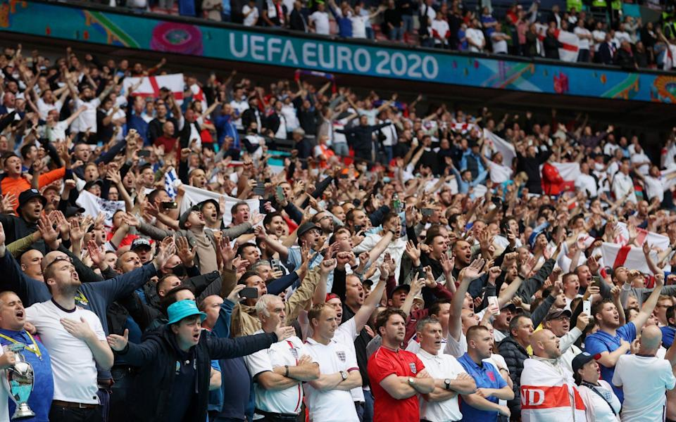 England fans sing Sweet Caroline song euros - GETTY IMAGES