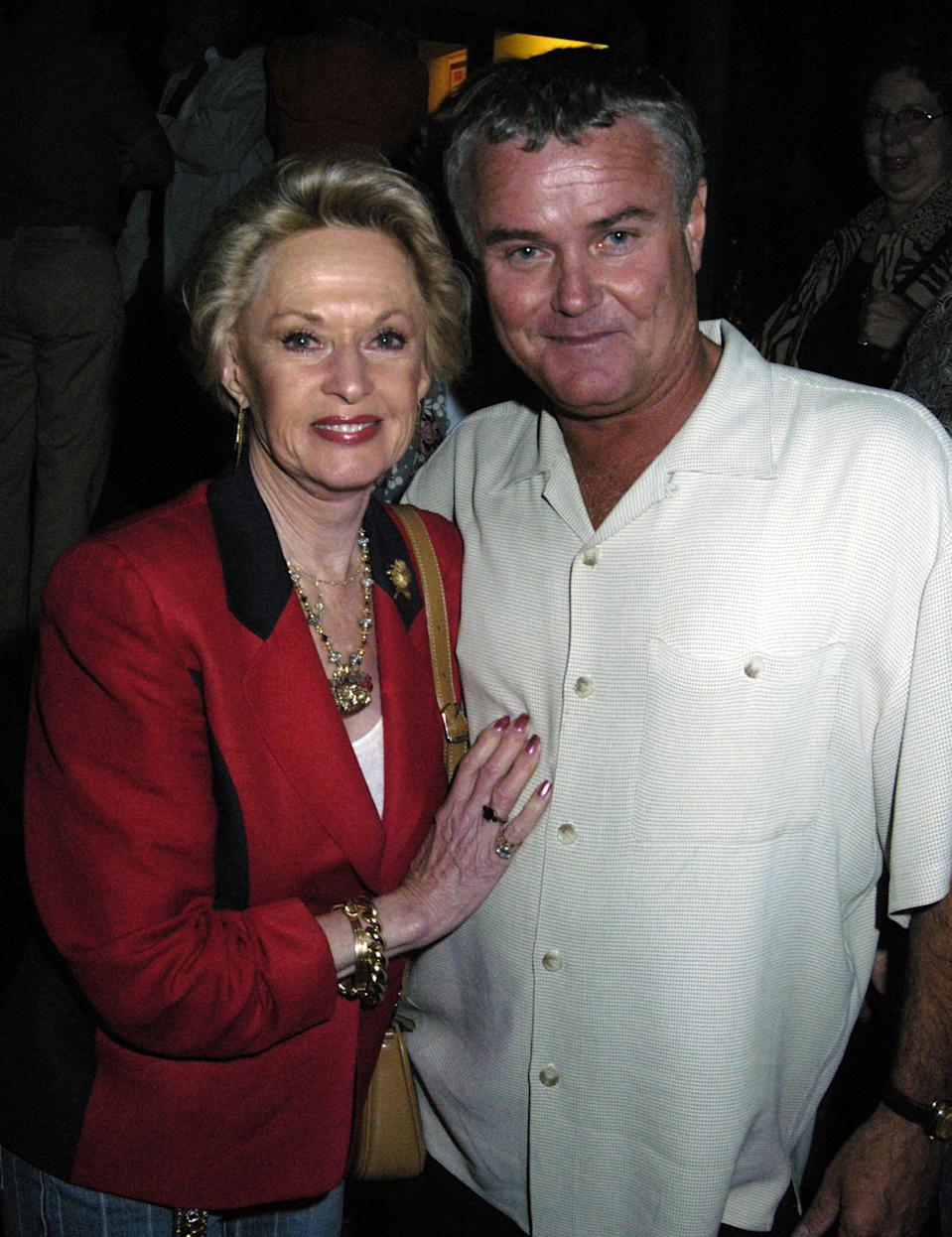 "Tippi Hedren and John Marshall during Tippi Hedren Hosts Premiere Screening of ""The Making of ROAR"" at Elixir Tonics & Teas in West Hollywood, California, United States. ***Exclusive*** (Photo by Barry King/WireImage)"