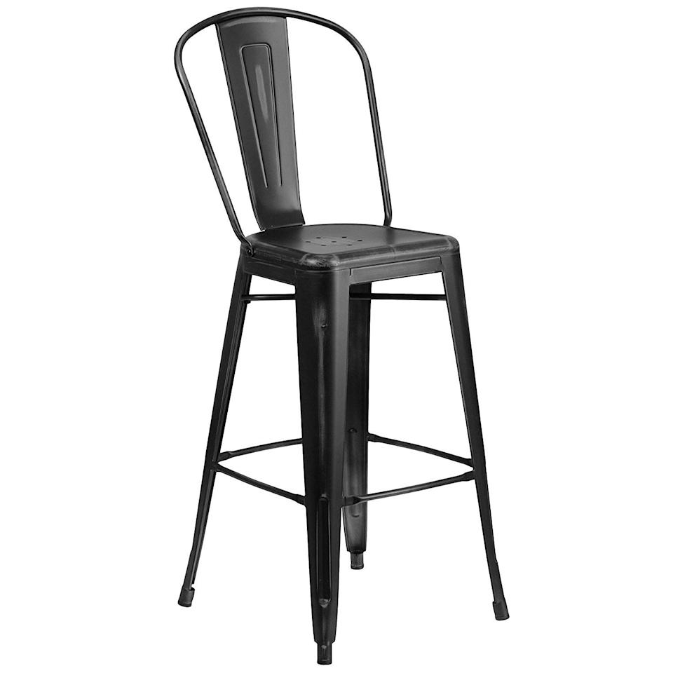 """<p><strong>Flash Furniture</strong></p><p>amazon.com</p><p><strong>$61.61</strong></p><p><a href=""""http://www.amazon.com/dp/B0160A7WJK/"""" target=""""_blank"""">BUY NOW</a></p><p>These metal bar stools can be used indoors and out, and they come in more than 20 color options. (Yes, even bright yellow!)</p>"""