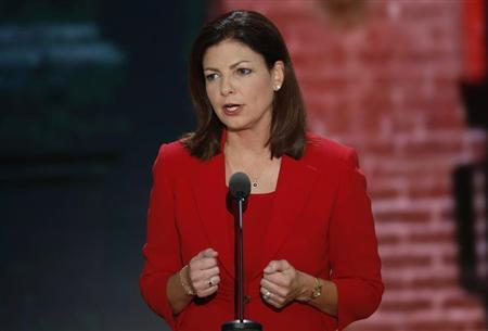 U.S. Senator Ayotte addresses the second session of the Republican National Convention in Tampa