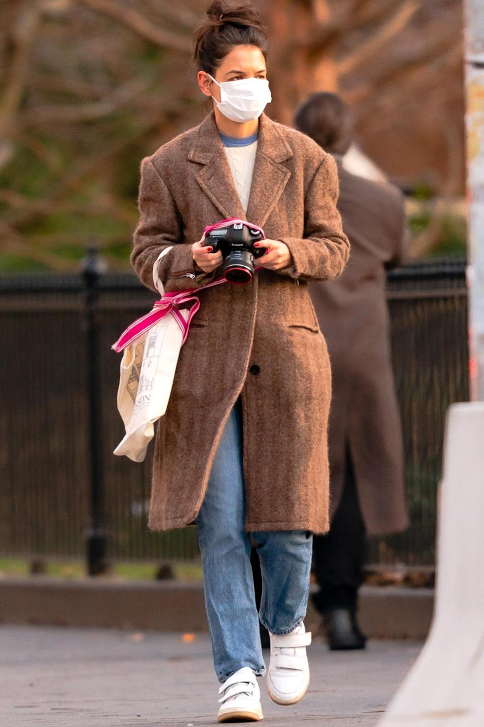 <p>Katie Holmes was spotted with a camera in hand during an outing in Washington Square Park in New York City.</p>