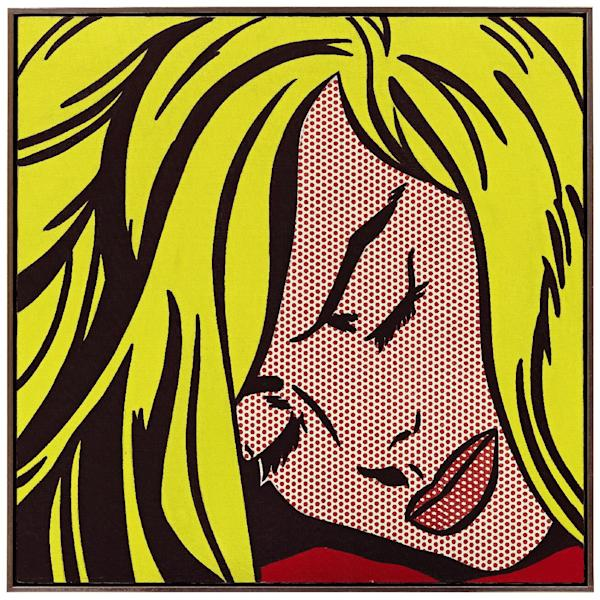 """FILE - This undated file photo provided by Sotheby's in New York shows """"Sleeping Girl"""" by artist Roy Lichtenstein. The painting, to be sold at Sotheby's on Wednesday May 9, 2012, has presale estimate of $40 million. Paintings by Andy Warhol, Roy Lichtenstein and Francis Bacon and a work featuring one ton of handmade porcelain sunflower seeds by Chinese dissident artist Ai Weiwei are among the artworks leading a Wednesday night contemporary art sale at Sotheby's. (AP Photo/Sotheby's, File)"""