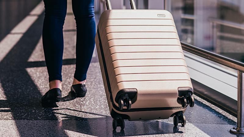 The design of Away luggage caters to millennial travelers' needs.