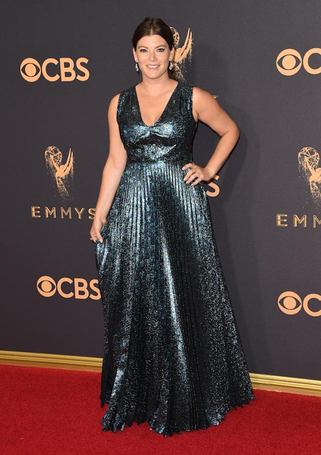 <p>Gail Simmons attends the 69th Primetime Emmy Awards at the Microsoft Theater on Sept. 17, 2017, in Los Angeles.. (Photo: Getty Images) </p>