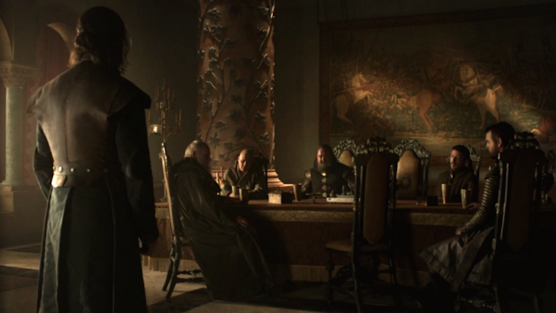 Game of Thrones small council meeting Robert and Ned
