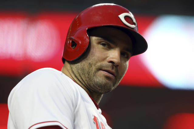 In a dreadful year for Reds baseball, it's nice to see Joey Votto let his fans know they're appreciated. (AP)