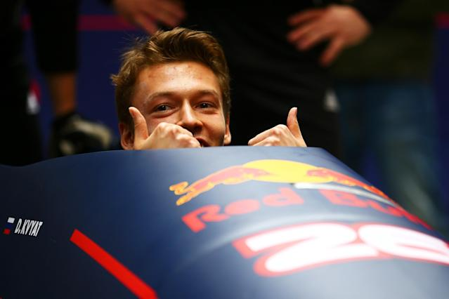 SOCHI, RUSSIA - APRIL 27: Daniil Kvyat of Russia and Red Bull Racing sits in a bobsleigh during previews to the Formula One Grand Prix of Russia at Sanki Sliding Centre on April 27, 2016 in Sochi, Russia. (Photo by Dan Istitene/Getty Images)