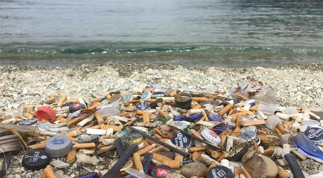 Ms Smith said she couldn't believe how many cigarettes she found on the beach. Source: Supplied / Liz Smith