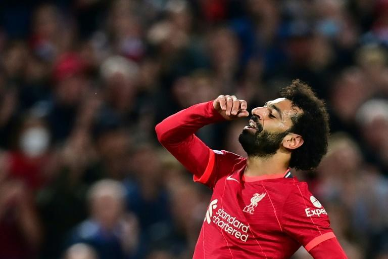 Mohamed Salah missed a penalty for Liverpool for the first time since 2017 (AFP/Paul ELLIS)