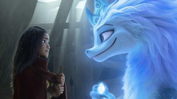 """PHOTO: Raya seeks the help of the legendary dragon Sisu. """"Raya and the Last Dragon"""" takes us on an exciting, epic journey to the fantasy world of Kumandra, where humans and dragons lived together long ago in harmony. (@2020 Disney)"""