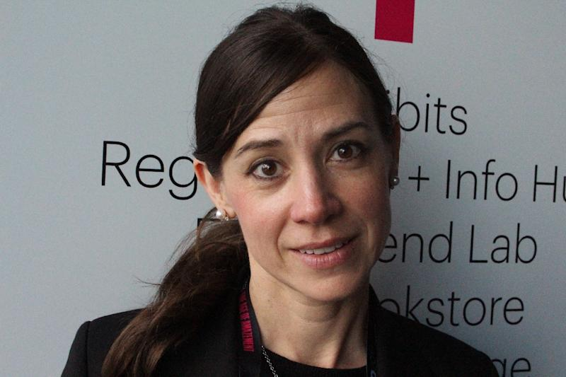 Dolby Laboratories chief scientist Poppy Crum, pictured in April 2018, says sensors and artificial intelligence are joining forces to reveal whether someone is lying, infatuated, or poised for violence