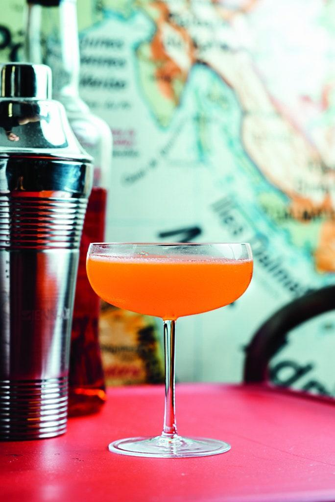 """This drink's been called a modern classic, and pretty much anyone who has had it loves it. It's four equal parts: Aperol, bourbon, Amaro Nonino, and lemon juice, shaken until chilly. <a href=""""https://www.epicurious.com/recipes/food/views/paper-plane-cocktail?mbid=synd_yahoo_rss"""" rel=""""nofollow noopener"""" target=""""_blank"""" data-ylk=""""slk:See recipe."""" class=""""link rapid-noclick-resp"""">See recipe.</a>"""