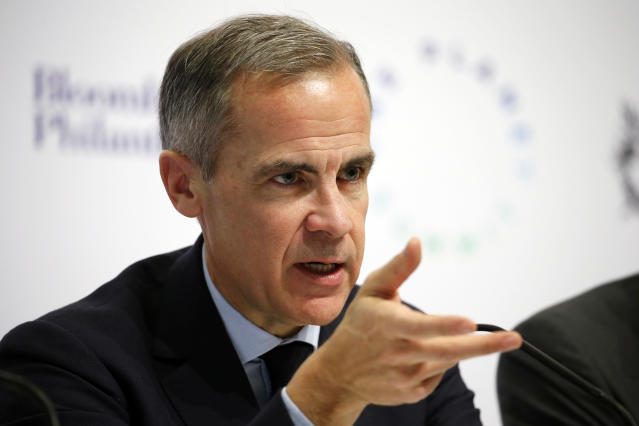 Bank of England governor Mark Carney is known for frequently warning about the negative risks surrounding Brexit. Photo: Chesnot/Getty Images