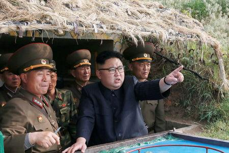Kim Jong Un inspects the defence detachment on Jangjae Islet and the Hero Defence Detachment on Mu Islet