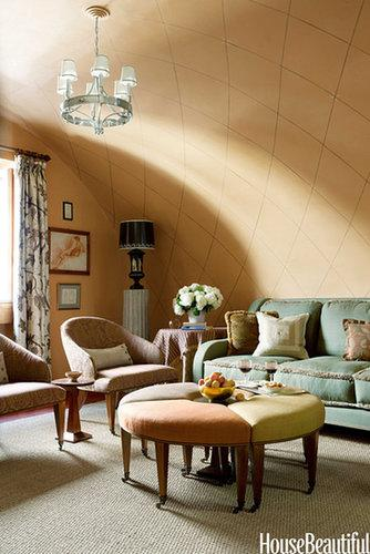 Once we saw this Italian living room, we started searching for flights to Rome. The earthy tones, textures, and of course, that vaulted ceiling earned it a spot on our 2013 list. Source: Frederic Lagrange for House Beautiful
