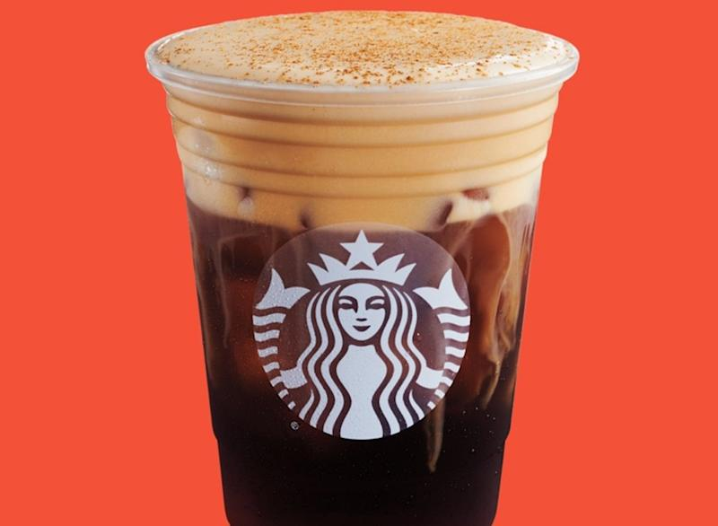 pumpkin cream cold brew from starbucks