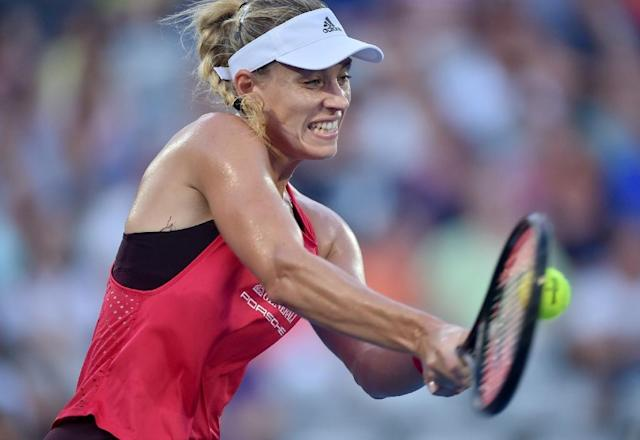 Germany's Angelique Kerber continued her 2018 resurgence with a 6-2, 6-3 win over Camila Giorgi and will face Australian Ashleigh Barty in the final (AFP Photo/PETER PARKS)