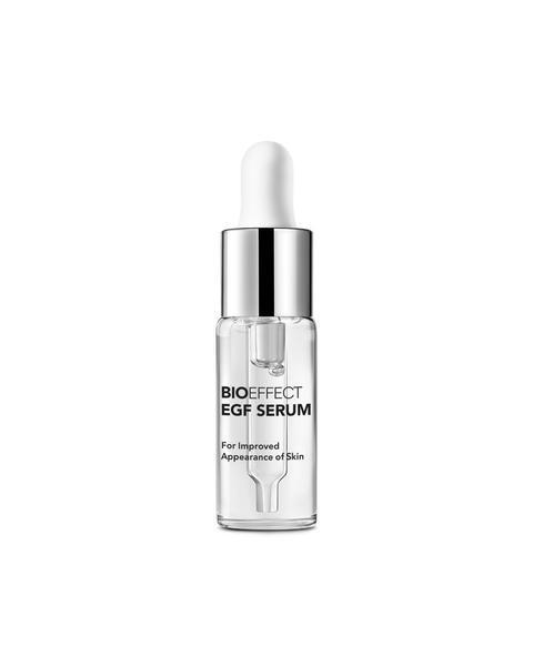 """In nascent research, growth factor serums show an ability to quell a laundry list of skin woes (including stimulating stem cells in the skin, tightening skin, and reducing the appearance of eye bags, according to Dr. Moy), which is pretty cool. What's <em>not</em> cool are the price tags attached to skin care with such heavy R&D. This serum, though expensive, is so potent, you only need a couple drops — which means this teeny-tiny bottle actually goes the distance. <br> <br> <strong>Bioeffect</strong> EGF Serum, $, available at <a href=""""https://go.skimresources.com/?id=30283X879131&url=https%3A%2F%2Fwww.sephora.com%2Fproduct%2Fcellular-age-defying-serum-P434554"""" rel=""""nofollow noopener"""" target=""""_blank"""" data-ylk=""""slk:Sephora"""" class=""""link rapid-noclick-resp"""">Sephora</a>"""