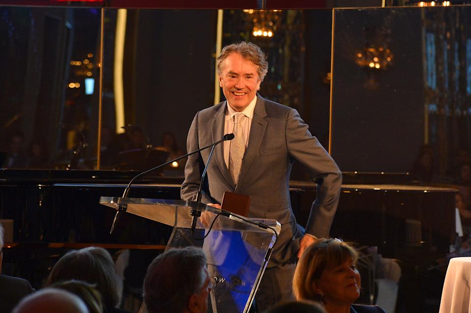 NEW YORK, NEW YORK - MARCH 11: Carter Burwell speaks during the Guild Hall Academy Of The Arts 34th Annual Achievement Awards Dinner at The Rainbow Room on March 11, 2019 in New York City. (Photo by Patrick McMullan/Patrick McMullan via Getty Images)
