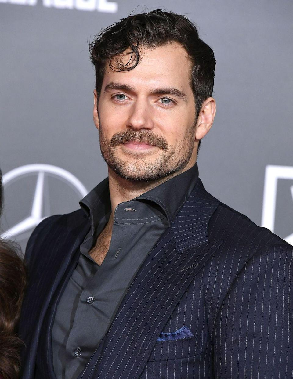 <p>This possible Bond-to-be and key villain in the latest <em>Mission Impossible</em> installment knows that a thick mustache paired with a little stubble is a very strong look. </p>