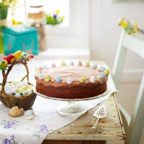 """<p>This delicious chocolate cake is simple to make, using only 4 ingredients.</p><p><strong>Recipe: <a href=""""https://www.goodhousekeeping.com/uk/easter/easter-deserts/a535027/cheats-chocolate-cake/"""" rel=""""nofollow noopener"""" target=""""_blank"""" data-ylk=""""slk:Cheat's Chocolate Cake"""" class=""""link rapid-noclick-resp"""">Cheat's Chocolate Cake</a></strong></p>"""