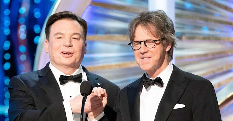 Party on! Mike Myers and Dana Carvey reunite at the Oscars