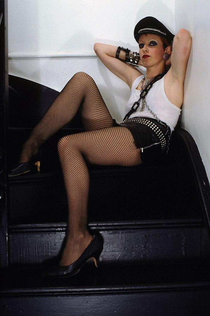 <p>Punk rock flourished in London—with fishnets, chains, and studs as the go-to accessories. </p>
