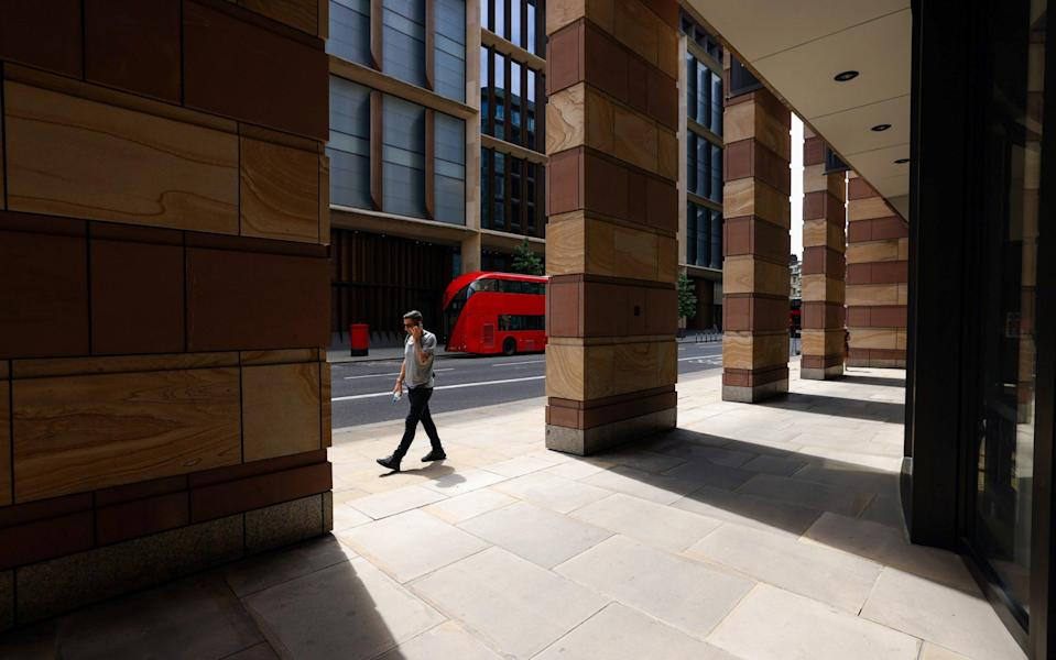Concerns are growing in Whitehall about the impact on productivity and the 'sandwich economy' if people continue to work from home - Chris Ratcliffe/Bloomberg