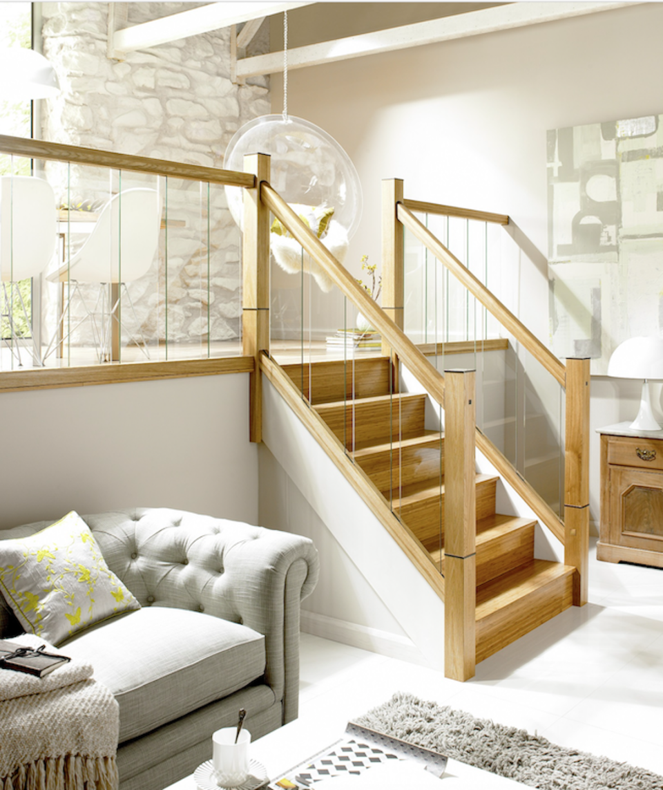 glass and oak staircase ideas