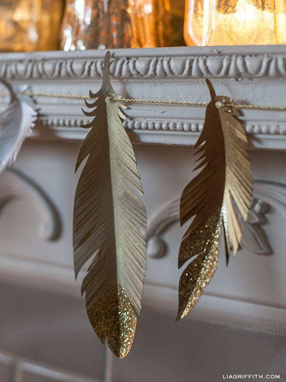 "<p>Don't let your holiday decor cramp your boho style. This garland is neutral enough to leave up all year long.</p><p>Get the tutorial at <a href=""https://liagriffith.com/make-a-paper-feather-garland-with-glittering-tips/"" rel=""nofollow noopener"" target=""_blank"" data-ylk=""slk:Lia Griffith"" class=""link rapid-noclick-resp"">Lia Griffith</a>.</p>"