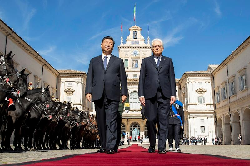Italy's President Sergio Mattarella (R) is another EU leader who has reached out to Chinese President Xi Jinping (AFP Photo/Handout)