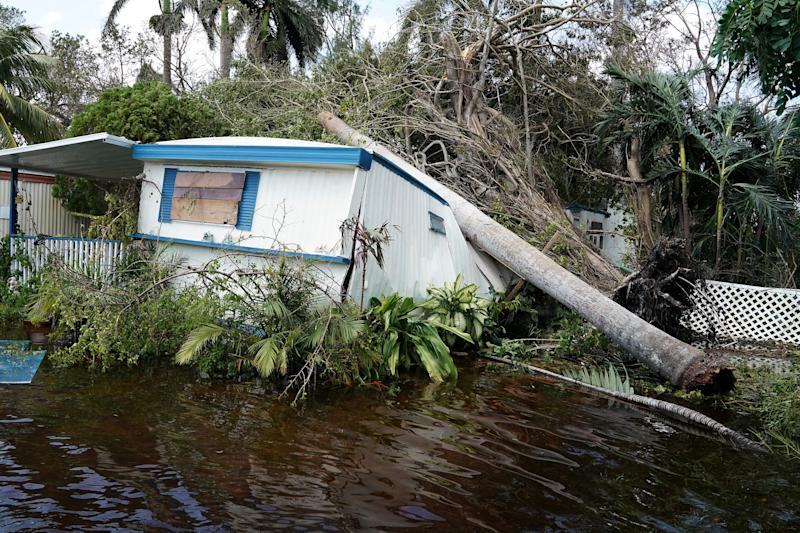 Record levels of flooding ravaged parts of Florida including Key Biscayne, pictured above. (Carlo Allegri / Reuters)