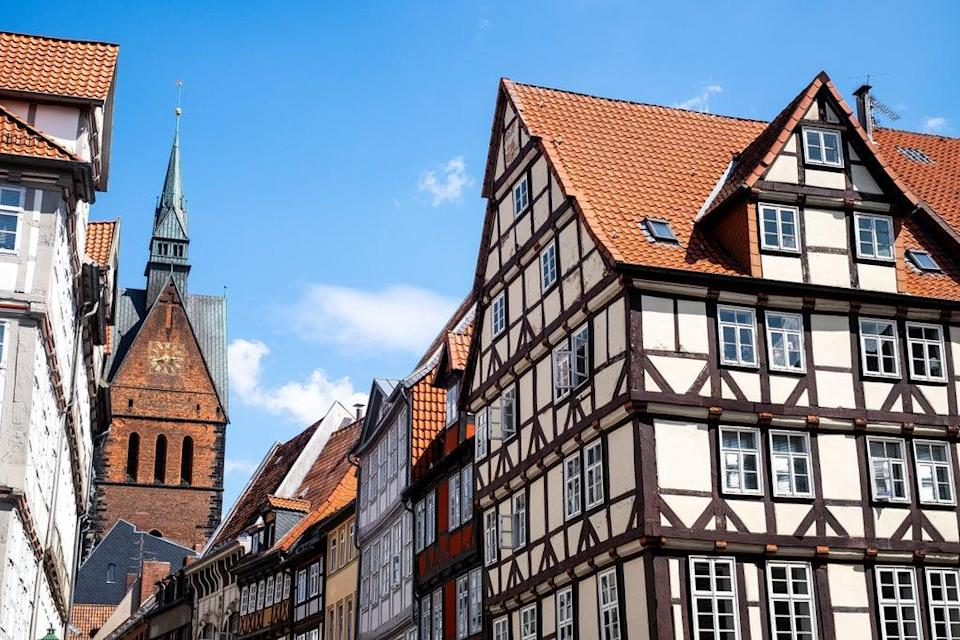 Half-timbered houses in Hannover's old city (Jennifer Curcio)