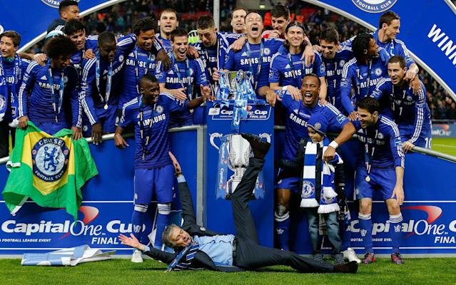 <span>Chelsea beat Tottenham in the 2015 League Cup final</span> <span>Credit: Rex Features </span>