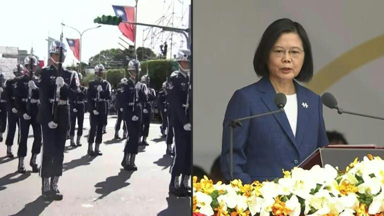 Taiwan's Tsai speaks at National Day as troops parade