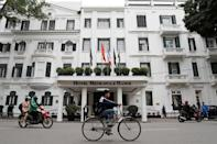 FILE PHOTO - The Metropole hotel is seen ahead of the North Korea-U.S. summit in Hanoi, Vietnam, February 25, 2019. REUTERS/Kim Kyung-Hoon/File Photo