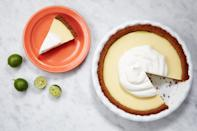 "A <a href=""https://www.epicurious.com/recipes-menus/best-key-lime-pie-recipe-article?mbid=synd_yahoo_rss"" rel=""nofollow noopener"" target=""_blank"" data-ylk=""slk:secret splash of lemon juice"" class=""link rapid-noclick-resp"">secret splash of lemon juice</a> is the key to balancing the bracing acidity of fresh key limes in our take on this classic recipe. <a href=""https://www.epicurious.com/recipes/food/views/our-favorite-key-lime-pie-56389684?mbid=synd_yahoo_rss"" rel=""nofollow noopener"" target=""_blank"" data-ylk=""slk:See recipe."" class=""link rapid-noclick-resp"">See recipe.</a>"
