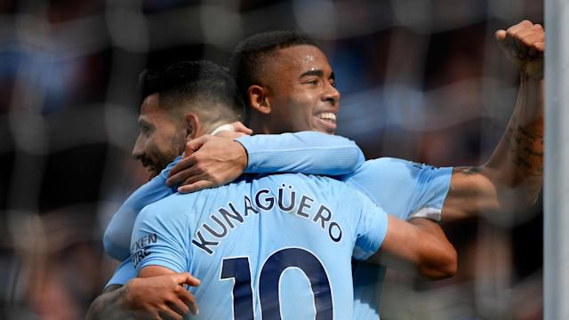 Pep Guardiola insists the battle to be Manchester City's premier striker has not harmed relations between Gabriel Jesus and Sergio Aguero.