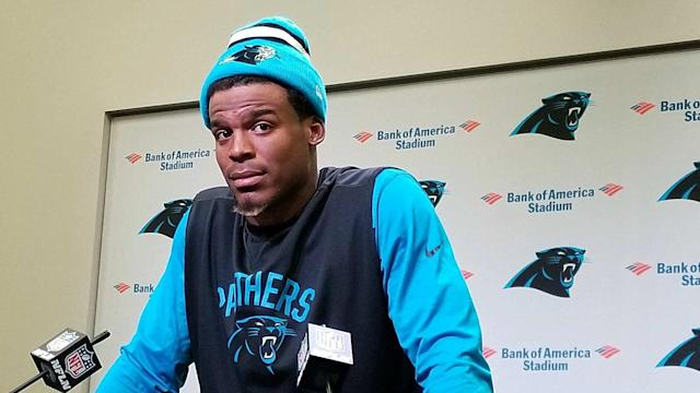 After sparking backlash on Wednesday, Cam Newton apologised for his seemingly sexist comment directed at a female reporter.