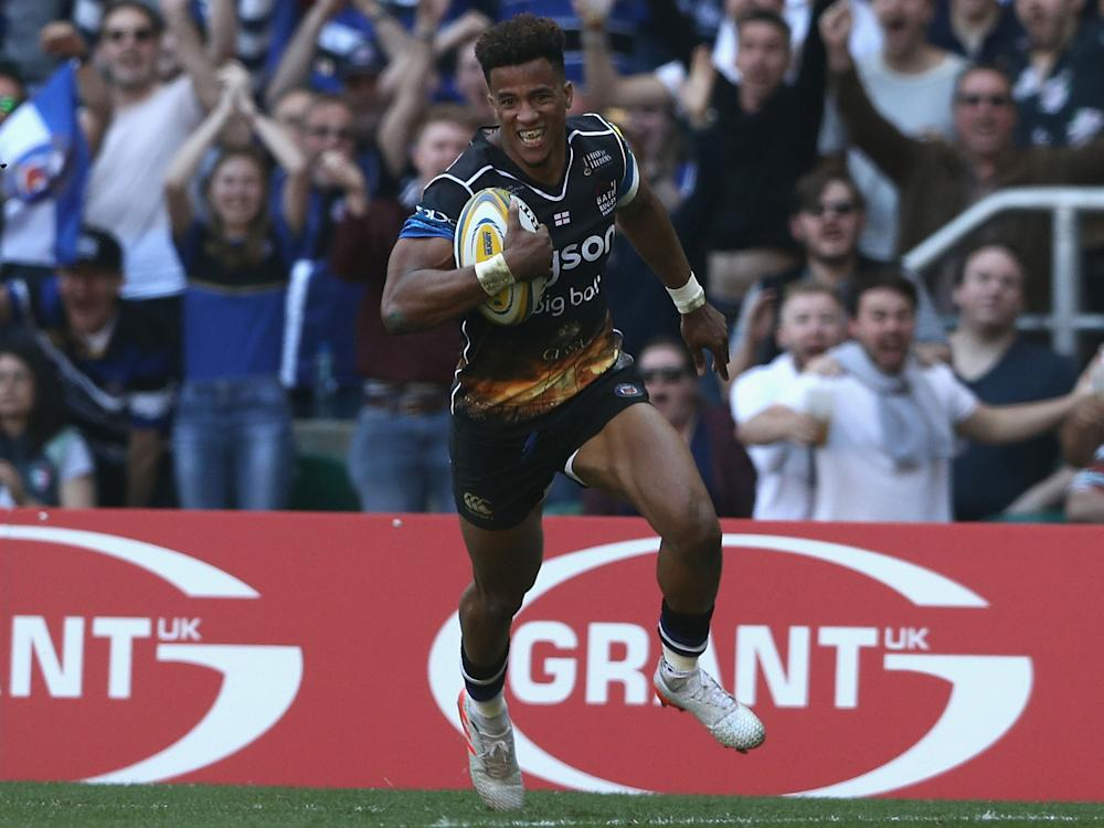Anthony Watson could be in line for a permanent switch to full-back if his performance for Bath is anything to go by: Getty