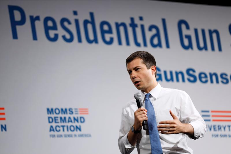 Pete Buttigieg: NRA has Donald Trump 'by the… base' on background checks