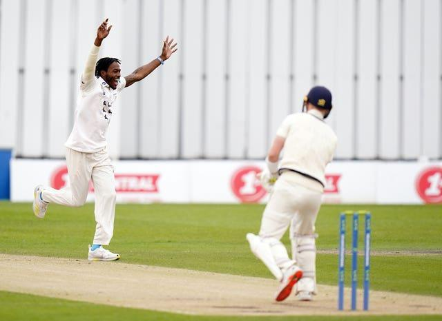 Jofra Archer had been among the wickets in the opening two days